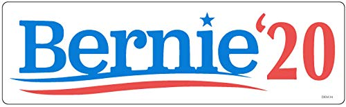 Bumper Planet - Bumper Sticker - Bernie 20, Sanders Election Campaign - 3 x 10 inch - Vinyl Decal Professionally Made in USA