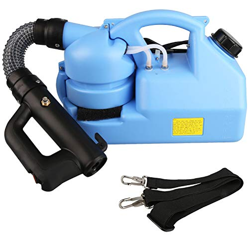 GESUNDHOME 7L Electric ULV Fogger - Portable Ultra-Low Atomizer - Electric Fogger Machine with Adjustable Particle Size 0-50μm/Mm - Suitable for Indoor and Outdoor Public (Blue)
