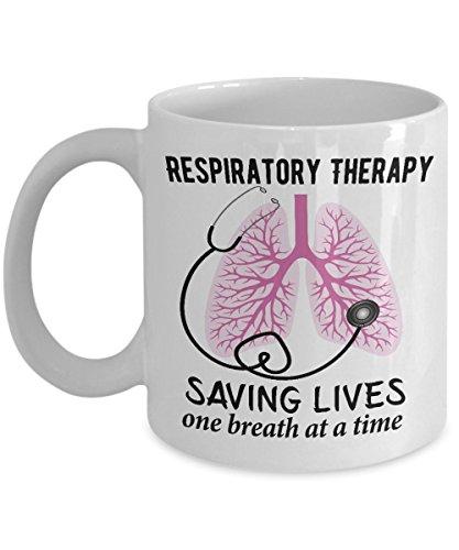 Respiratory Therapist Gifts - Respiratory Therapy Mug - Respiratory Therapist Student Gift - Saving Lives Mug - RRT Coffee Mug - Graduation Gift - RT