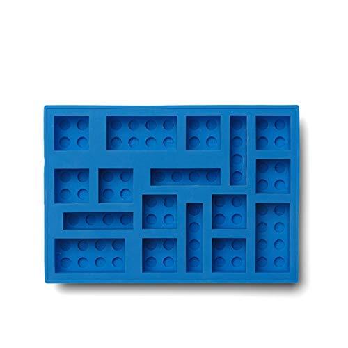 Room Copenhagen, LEGO Iconic Ice Cube Tray - Dishwasher Safe, Silicone Brick Mold - Bright Blue