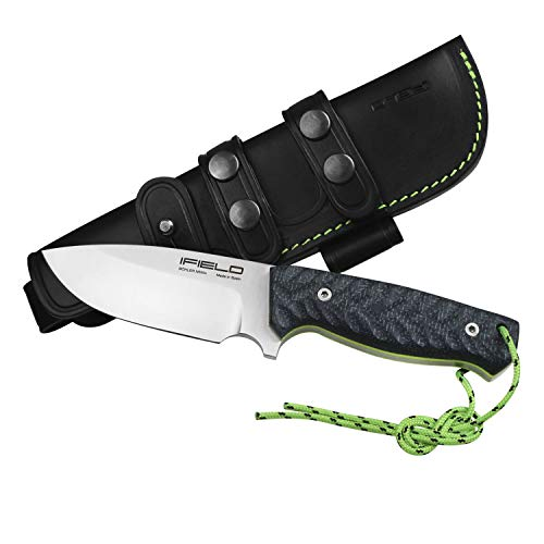 iFIELD Workout EL29118 Survival and Hunting Knife, Böhler N690CO Blade 4.5 inch, with Black Leather Sheath, TRF Handle, Camping Tool for Fishing, Hunting, Sport Activity