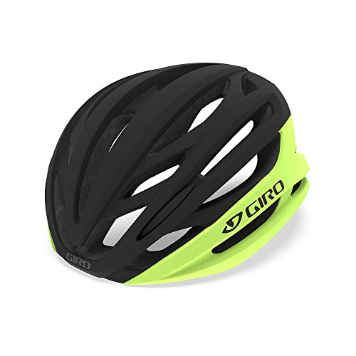 Giro Syntax MIPS Adult Road Cycling Helmet - Medium (55-59 cm), Highlight Yellow/Black (2020)