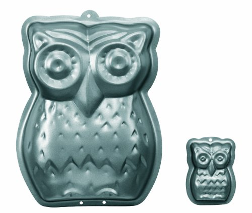 RBV Birkmann Owl Cake Pan, Owl-Shaped Baking Mold with Intricate Details, Non-Stick Coating, Includes Usage Guide and Recipe