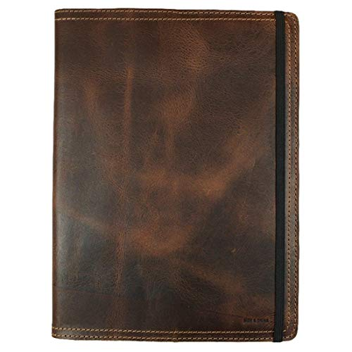 Hide & Drink, Rustic Leather Journal Cover for Moleskine Hard Cover Sketchbook XL Size (7.5 x 9.75 in.), Notebook NOT Included, Cahier Case, Handmade Includes 101 Year Warranty :: Bourbon Brown