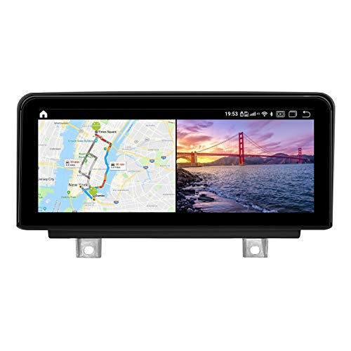 Koason 10.25' Black Screen Monitor 4+64G Android9.0 Auto Stereo Video Media Player GPS Navigation for BMW 1/2 Series F20 F21 F22 F23 2012-2016 NBT