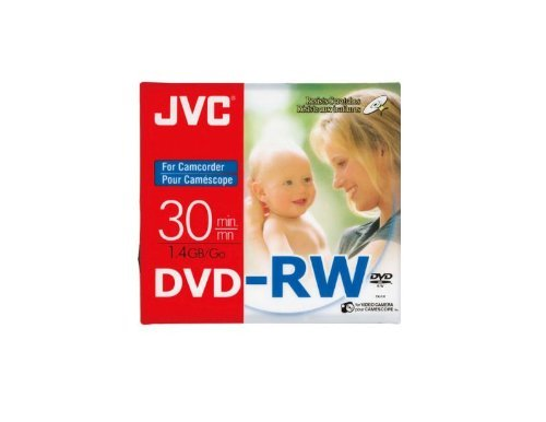 JVC 80MM Rewritable Mini DVD-RW for Camcorders - Pack of 3