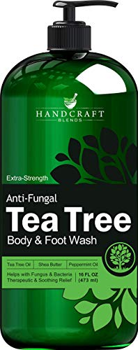 Handcraft Tea Tree Oil Body Wash and Foot Wash – HUGE 16 OZ - Extra Strength Professional Grade – Helps Soothe Athlete Foot, Body Itch, Jock Itch and Eczema - Packaging May Vary