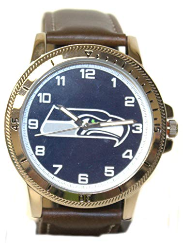 Rico Seattle Seahawks Classic Men's Sport Watch Brown Band