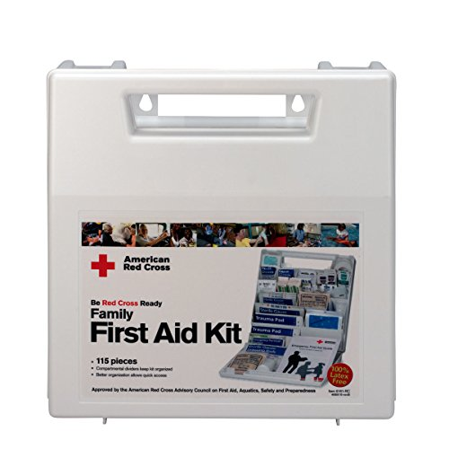 First Aid Only 9161-RC American Red Cross Deluxe Family First Aid Kit, Plastic Case