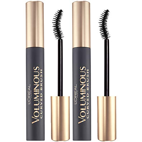 L'OrealParis Makeup Voluminous Original Volume Building Curved Brush Mascara, Black, 2 Count