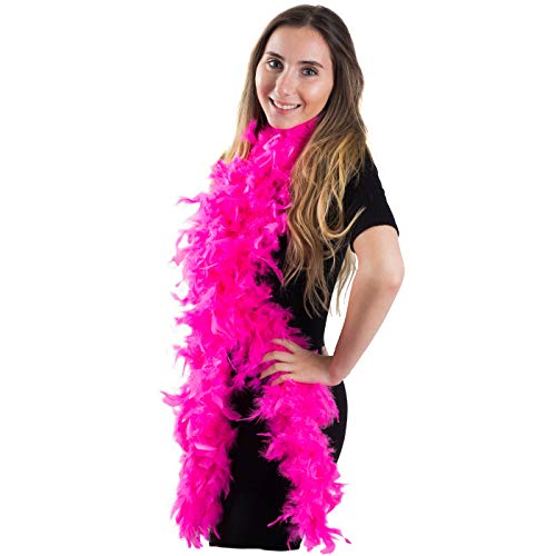 Feather Boa - Marabou Feather Boa – 6.7 Feet Long - Flapper Accessories – Diva Dress Up - By Funny Party Hats