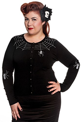 Hell Bunny Spooky Spooky Spider Black Cardigan (XS)