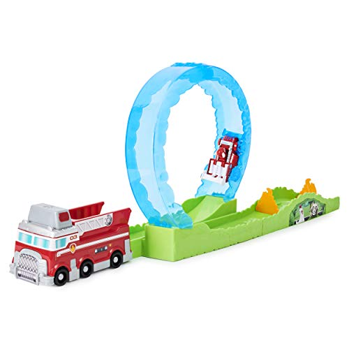 Paw Patrol, True Metal Ultimate Fire Rescue Track Set with Exclusive Marshall Die-Cast Vehicle, 1:55 Scale