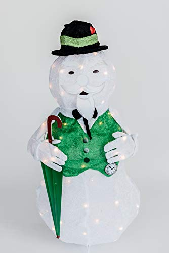 ProductWorks 36' Tinsel Sam The Snowman w/Umbrella Rudolph The Red Nosed Reindeer Christmas Decoration