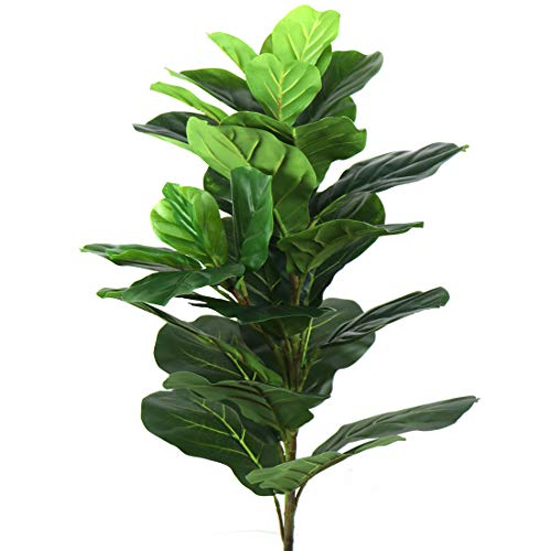 Beebel Artificial Plants 38' Tall Fiddle Leaf Fig Tree Tropical Realistic Fake Plant Indoor Outdoor UV Resistant Faux Ficus Lyrata for Home Decor (38 inches)