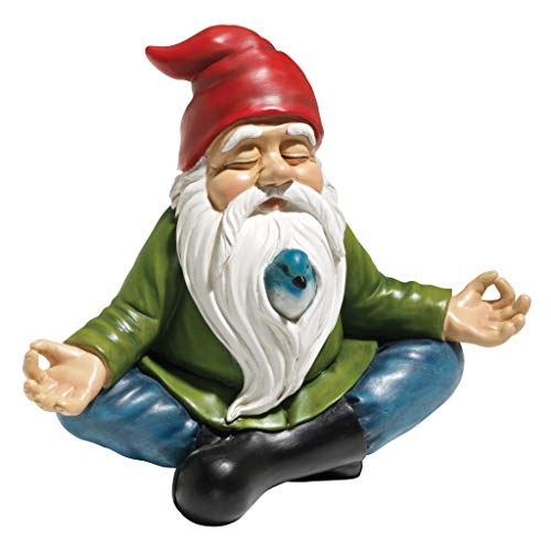 Design Toscano Zen Garden Gnome Statue, 8 Inch, Polyresin, Full Color