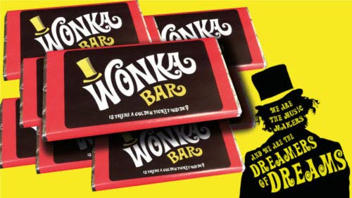 Willy Wonka Milk Chocolate Bar, great gift