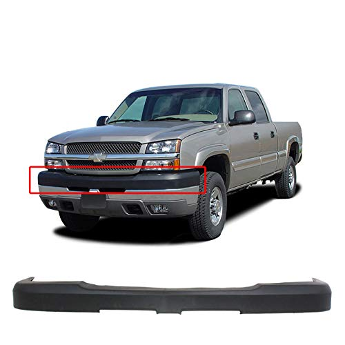 BUMPERS THAT DELIVER - Textured, Black Front Bumper Cover Trim Cap for 2003-2007 Chevy Silverado 2500 3500 HD 03-07, GM1051109