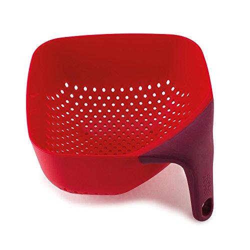 Joseph Joseph 40060 Square Colander, Medium, Red
