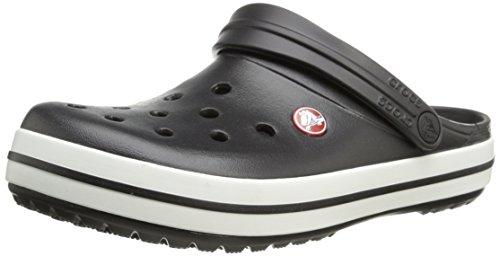 Crocs unisex-adult Crocband Clog   Comfortable Slip On Casual Water Shoe Black Men's 6, Women's 8 Medium