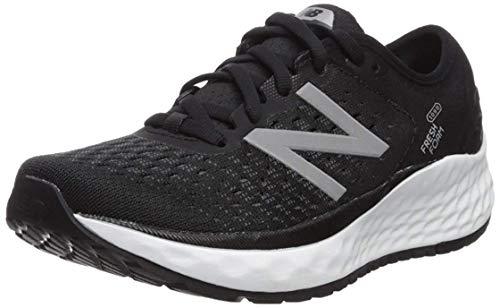 New Balance Women's Fresh Foam 1080 V9 Running Shoe, Black/White, 9 W US