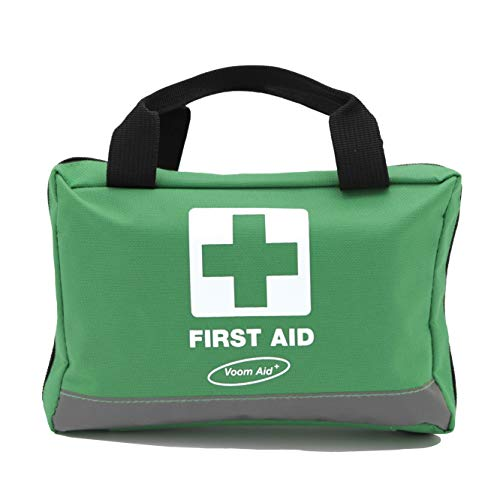 90 Piece Compact Premium First Aid Kit with Reflective Bag Includes Eyewash Ice Packs & Emergency Blanket Ideal for Home Office Outdoor Sports Hiking Car Boat Caravan Workplace & Travel