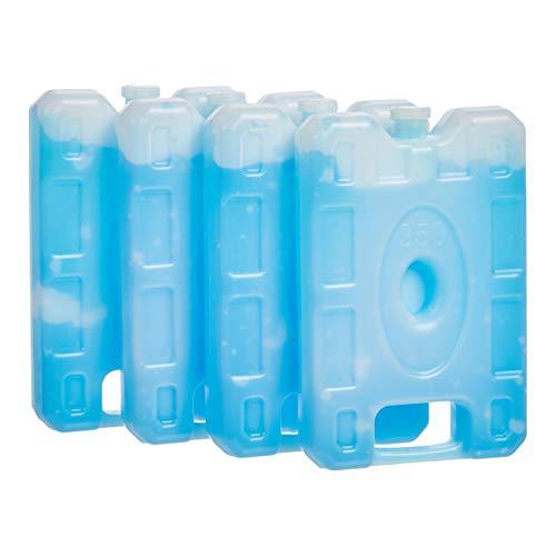 Amazon Basics Reusable Hard Sided Rectangular Ice Pack, 6.5' X 4.3' X 1.2', Blue, Pack of 4