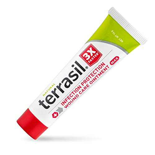 Terrasil Wound Care 14 gram MAX - 3X Faster Healing, Dr. Recommended, 100% Guaranteed, Patented, Homeopathic infection bed & pressure sores diabetic wounds venous foot & leg ulcers cuts scrapes burns