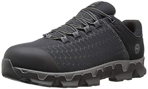 Timberland PRO Men's Powertrain Sport Alloy Toe EH Industrial & Construction Shoe, Black Synthetic, 9.5 W US