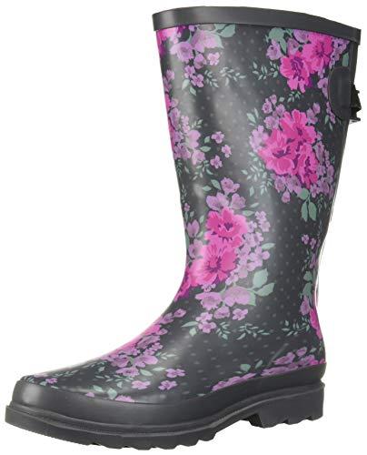 Western Chief Women Wide Calf Rain Boot, Raindrop Dot , 9 M US