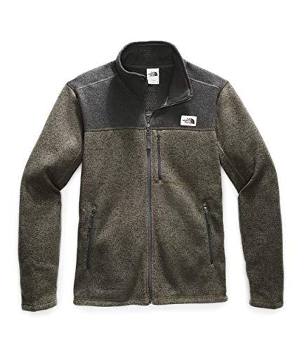 The North Face Men's Gordon Lyons Full Zip Fleece Jacket, New Taupe Green Heather/TNF Dark Grey Heather, Small