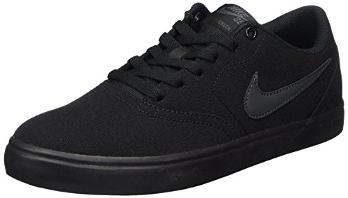 Nike Unisex SB Check Solar CNVS Black/Anthracite Skate Shoe 8.5 Men US / 10 Women US