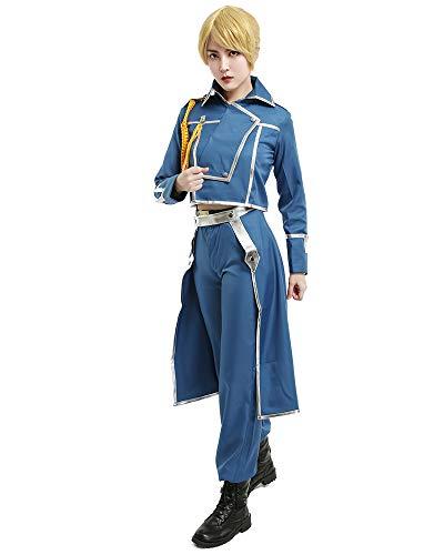 miccostumes Women's Riza Hawkeye Military Cosplay Costume Large Blue