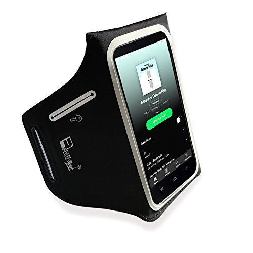 iPhone 11 Waterproof Running Armband with Extra Pockets for Keys, Cash and Credit Cards. Phone Arm Holder for Sports, Gym Workouts and Exercise (Small - Large Arms)