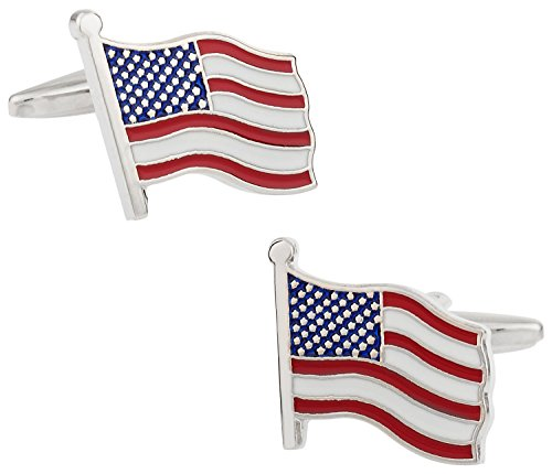 Cuff-Daddy American Flag Cufflinks with Presentation Box