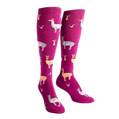 Sock It To Me Women's Llama Drama Knee High Socks
