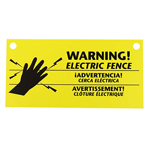 Zareba 680828 WS3 3-Pack Electric Fence Warning Signs, 3