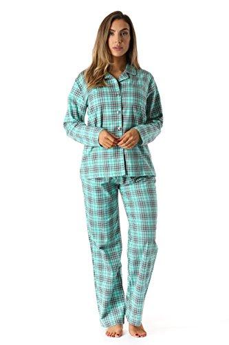 6371-10230-L #followme Printed Flannel Button Front PJ Pant Set