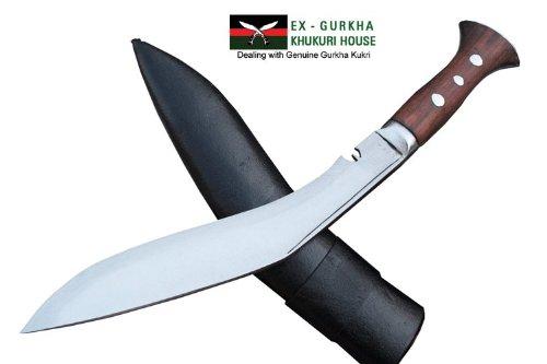 EGKH. Genuine Full Tang Blade Raw Kukri Knife - 10' Gurkha Jungle Combate Khukuri - Handmade by Ex Gurkha Khukuri House in Nepal