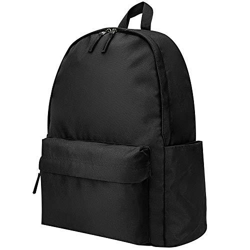 Vorspack Backpack School Backpack, Lightweight Basic School Bookbag Water Resistant for Boys & Girls - Black
