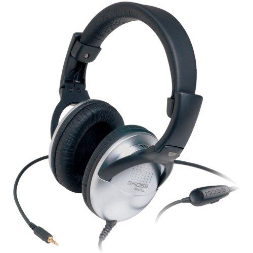 Koss UR29 Collapsible Portable Headphones, Standard Packaging Black, Silver