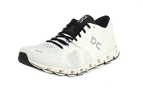 on Running Women's Cloud X Textile Synthetic Trainers White/Black Shoes, Size 10 (M) US, 42 EUR