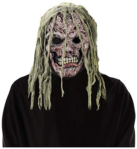 Fun World Men's Zombie Gauze Mask, Multi, Standard