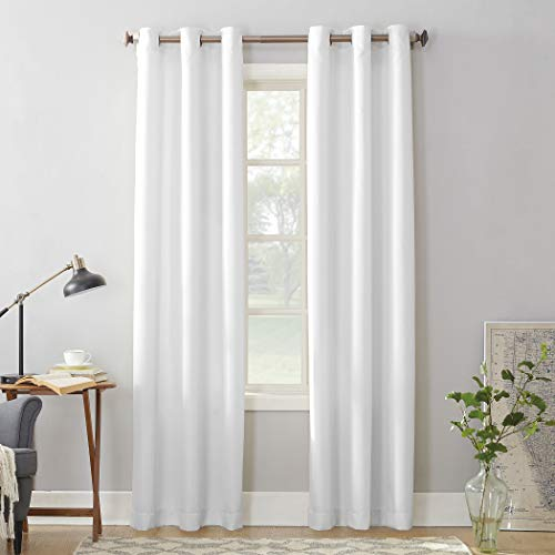 No. 918 Montego Casual Textured Grommet Curtain Panel, 48' x 63', White