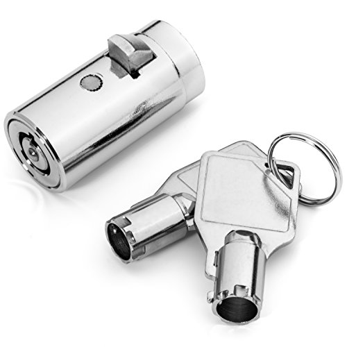 High Security Vending Machine Lock with Tubular Keyway and Chrome Finish, Keyed Alike
