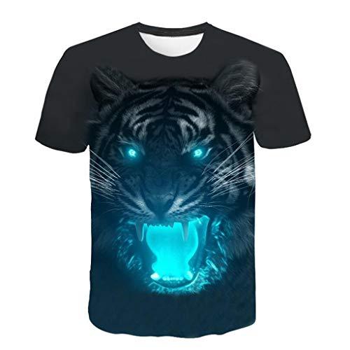WOCACHI Mens Summer Patchwork Tracksuit Sale 3D Tiger Cool T-Shirt Tees Crewneck Sweatshirt Short Sleeve Shirts Zipper Novelty Sports Suit 2020 Spring Outdoor Under 20 Dollars 2PCS Sets
