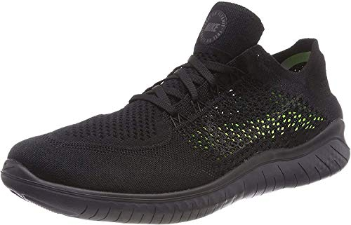 Nike Men's Free Rn Flyknit 2018 Black/Anthracite Running Shoe 8.5 Men US