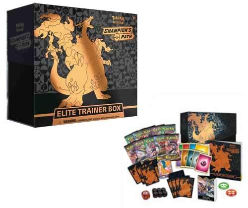 Pokemon TCG Champion's Path Elite Trainer Booster Box - 10 Booster Packs Plus More!