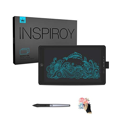 HUION Inspiroy Ink H320M Graphic Drawing Tablet 10 x 6 Inch Dual-Purpose LCD Writing Tablet, 11 Press Keys, Android Supported, Sleeve Bag Included,Black