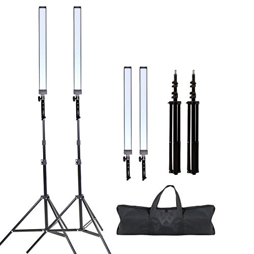 GSKAIWEN Photography Studio LED Lighting Kit Adjustable Light with Light Stand Tripod Photographic Video Capture Portraits